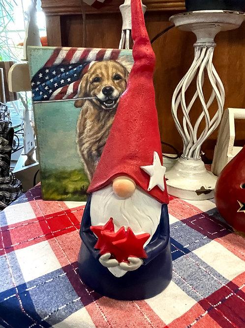 Ceramic Patriotic Gnome