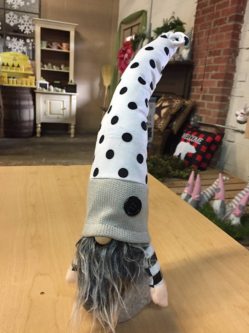 Black & White polka dot Gnome