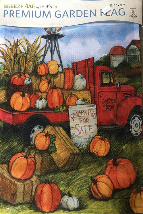 Pumpkins For Sale w/Red Truck