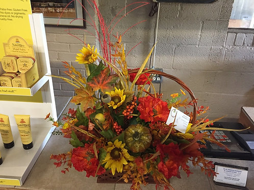 Large Fall Table Arrangement in basket
