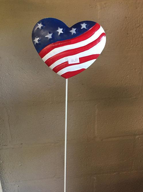 Americana Heart metal stake