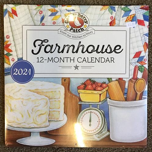 2021 Farmhouse 12-Month Calender