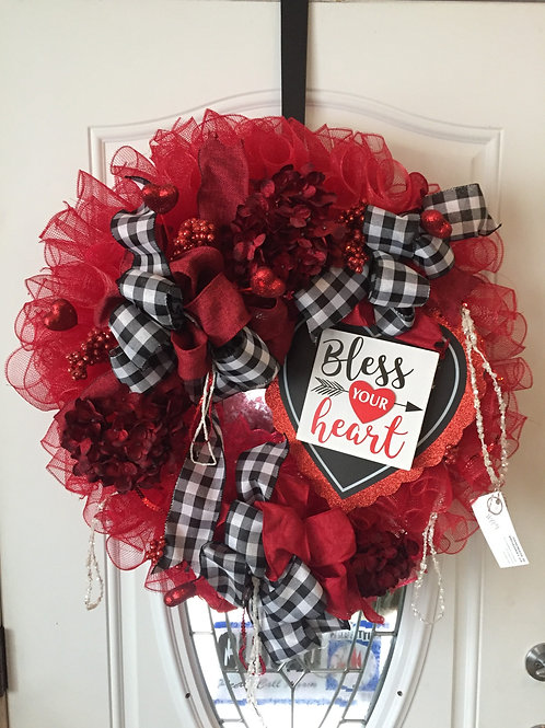 Bless Your Heart Valentine's Wreath