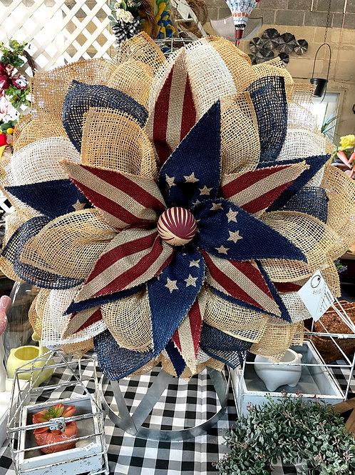 Americana burlap sunflower