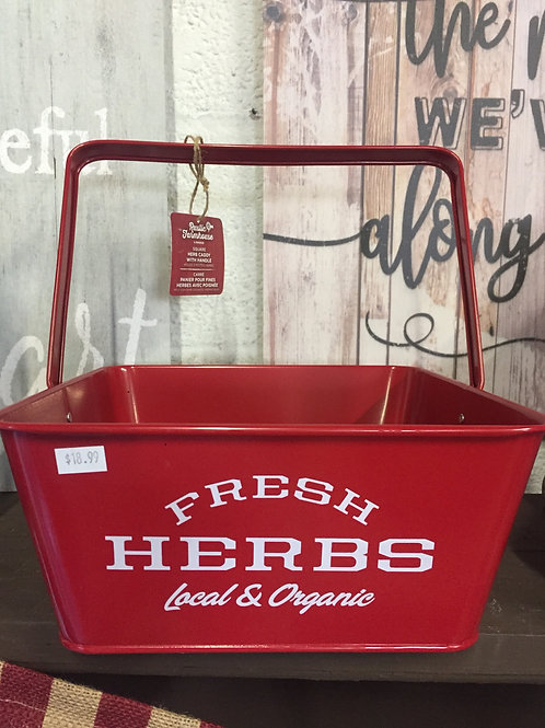 Fresh Herbs caddy (red) with handle