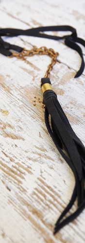 Emperor Leather Tassel Necklace