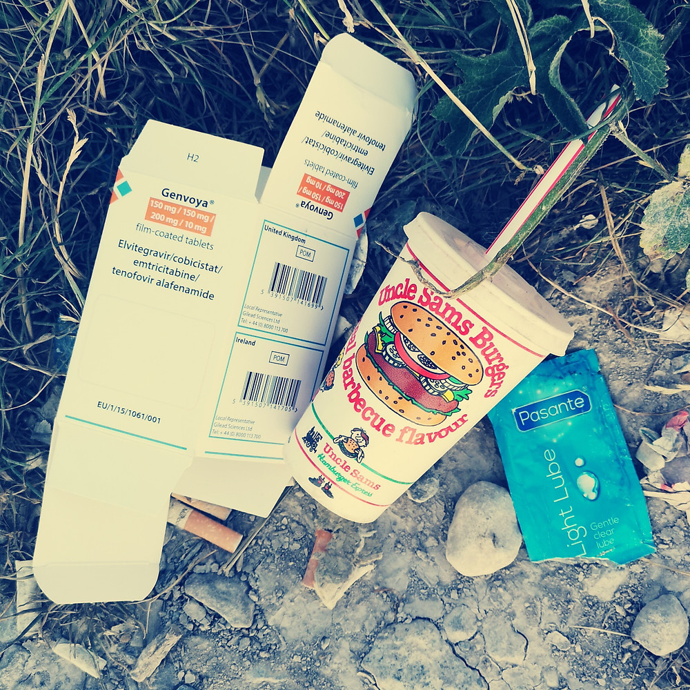 image of waste found at national park