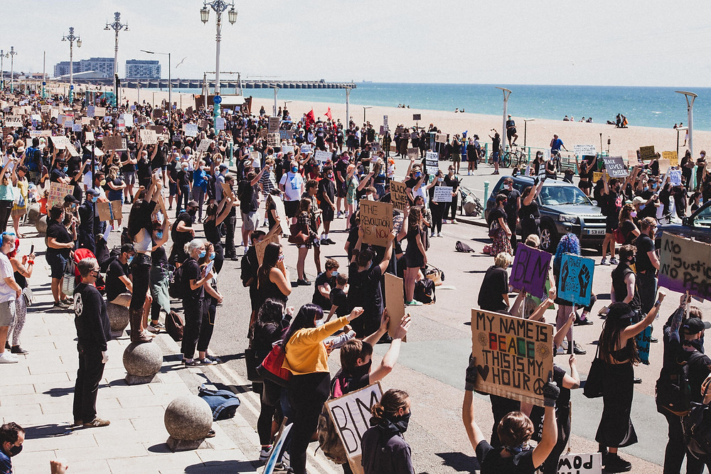 Group of Protesters in Brighton
