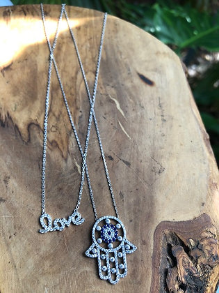 LOVE, LOVE, LOVE NECKLACE