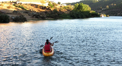 Rafting on the Guadiana river