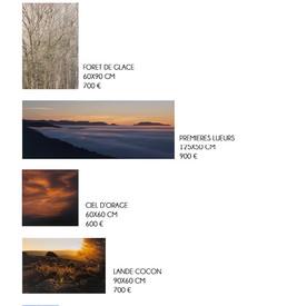 Formats & Prix Photographies d'Art