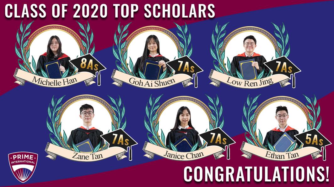 Class of 2020 Top Scholars