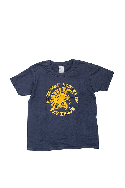Adult Short Sleeve Cotton T-Shirt featuring the Trojan Logo