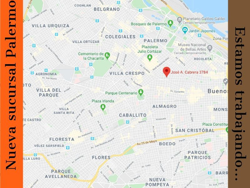 En Julio inauguraremos nuestra nueva sucursal Palermo. Estamos trabajando para estar mas cerca tuyo.
