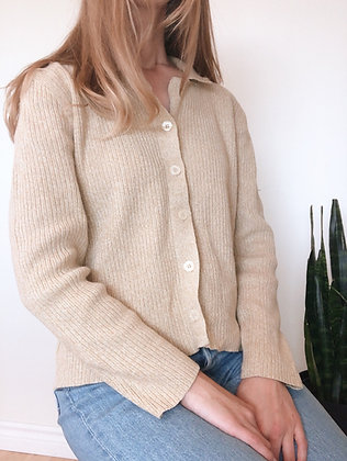 Vintage Button-Up Cardigan