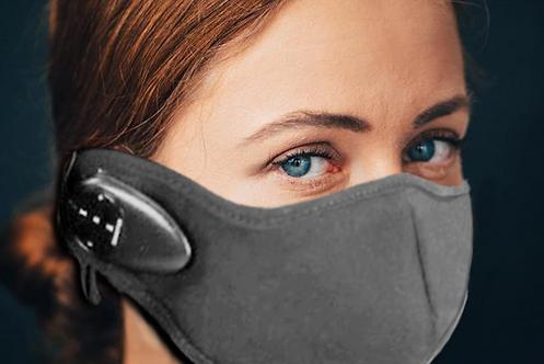 Grey Bluetooth Face Mask
