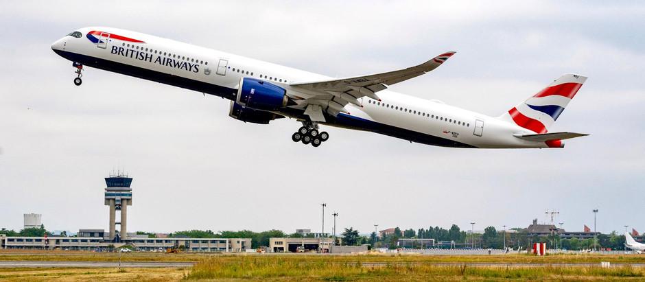 El Airbus A350 británico sufrió fugas hidráulicas