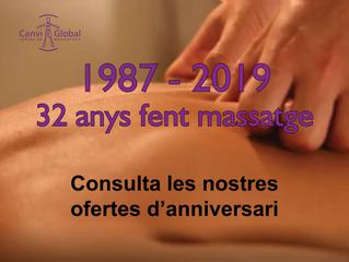 32 ANNIVERSARI (ofertes en massatges)