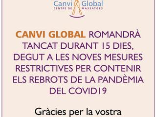 TANCATS DURANT 15 DIES (noves mesures prevenció contagi Covid-19)