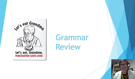 Reviewing grammar with Professor Erin Colago
