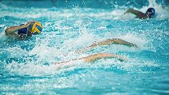 People swimming in the Potlatch Swimming Pool