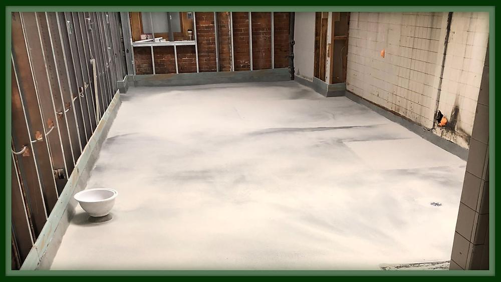 urethane concrete floor