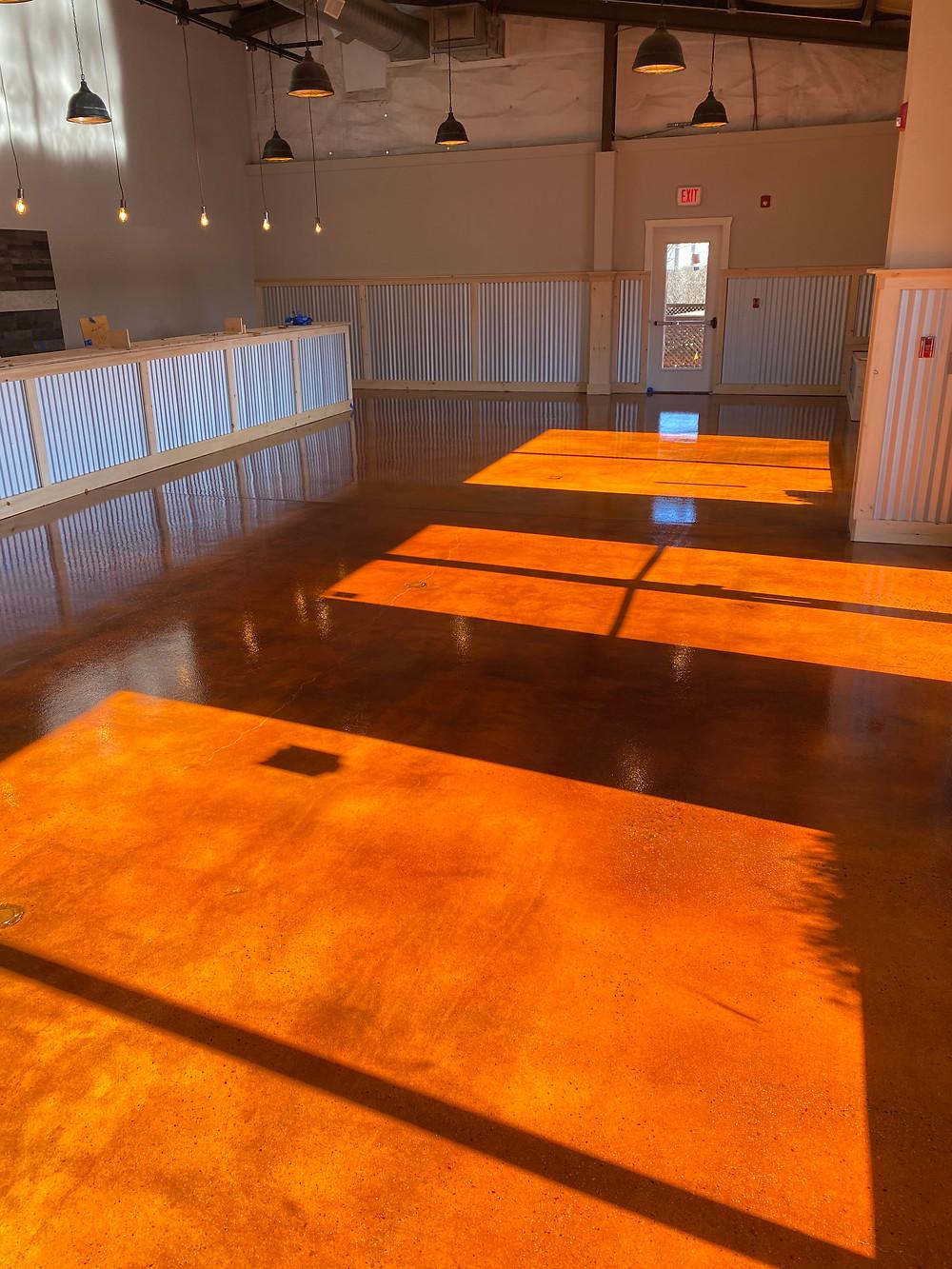 acid stained epoxy flooring