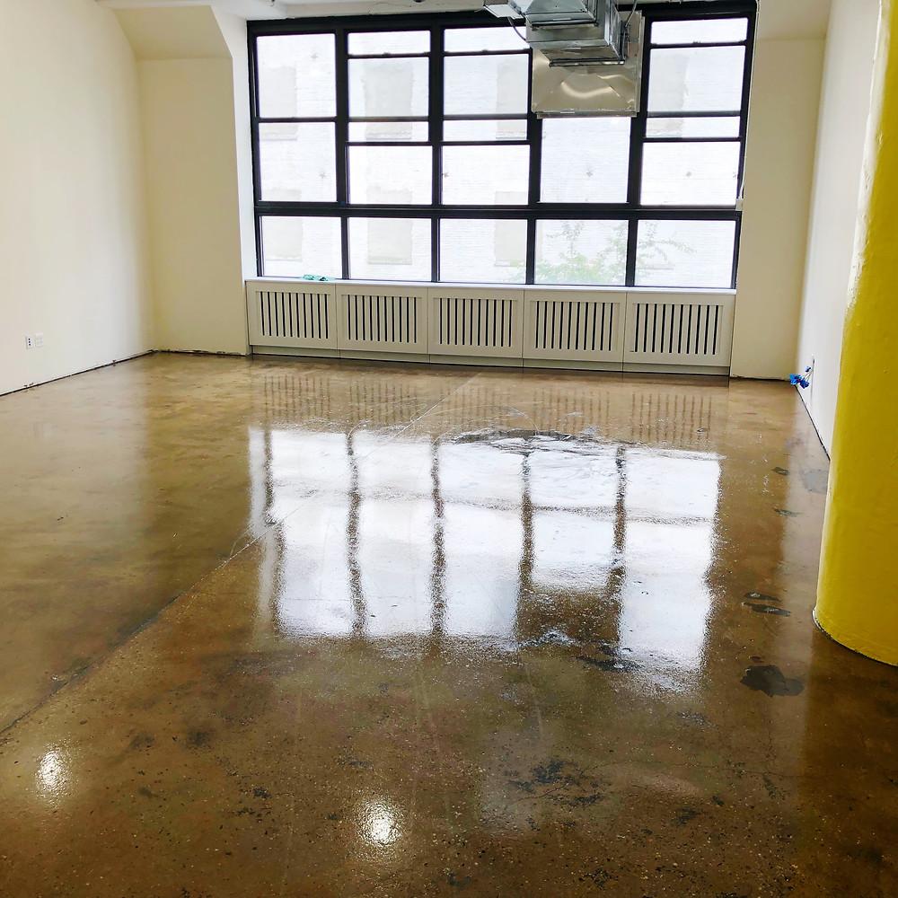 acid stain epoxy flooring