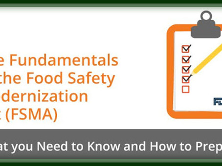 Why The Food Safety Modernization Act Is Important To The Food & Beverage Flooring Industry