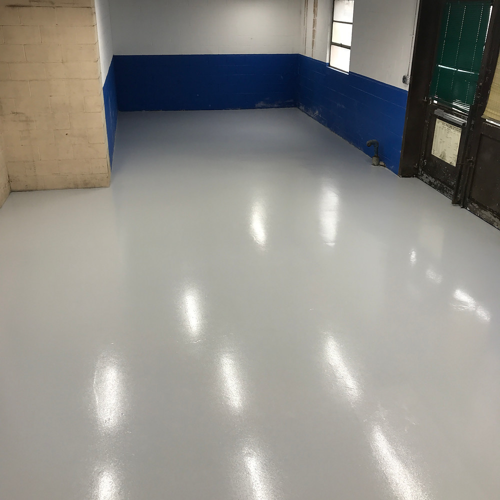 machine shop epoxy flooring
