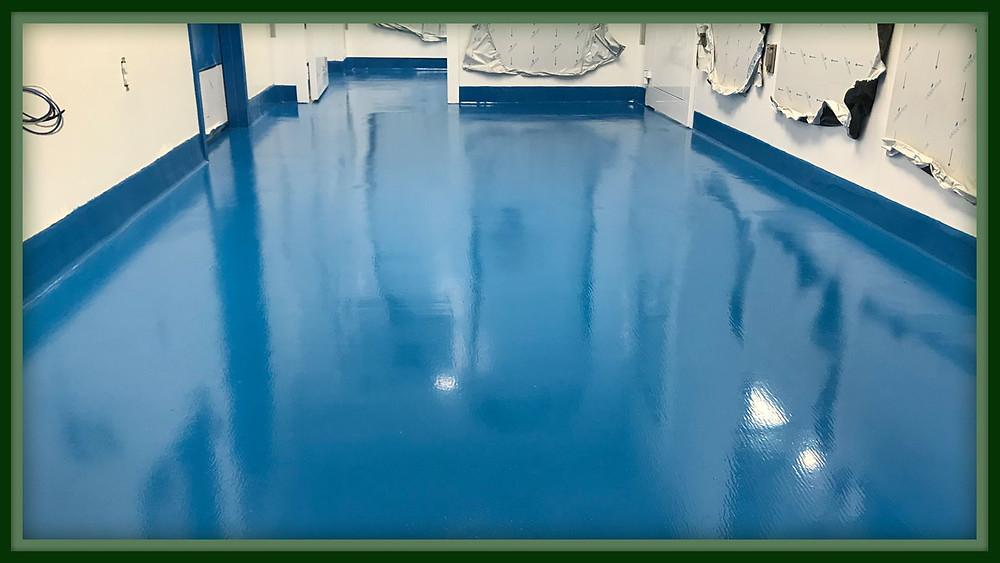epoxy lab flooring