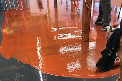 metallic floor contractors video