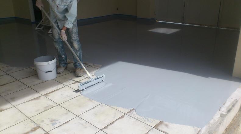 Urethane Cement Flooring For Tiles