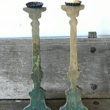 Pair of Teal Candlesticks