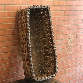 SOLD - Rectangular Woven Basket