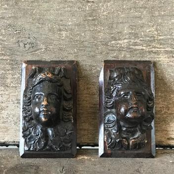 Pair of Wood Carvings