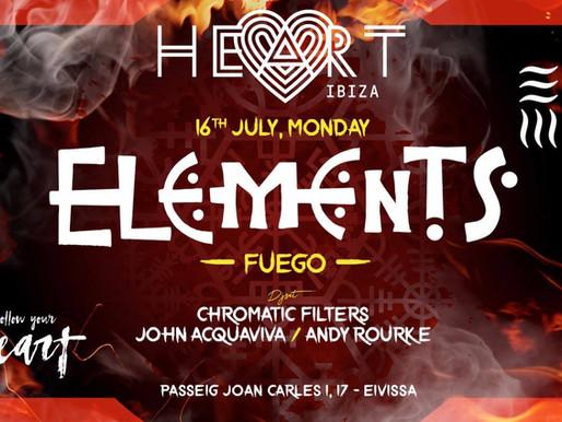 Elements @ Heart Ibiza 16th July 2018