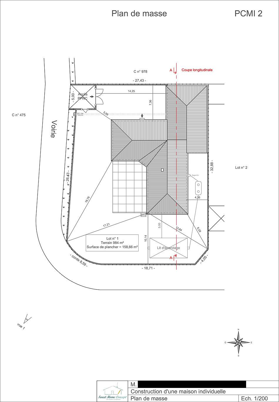 Plan de masse d 39 une maison for Plan de masse maison individuelle