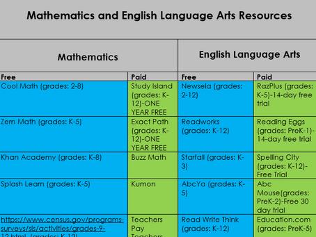 ELA and Math Resources