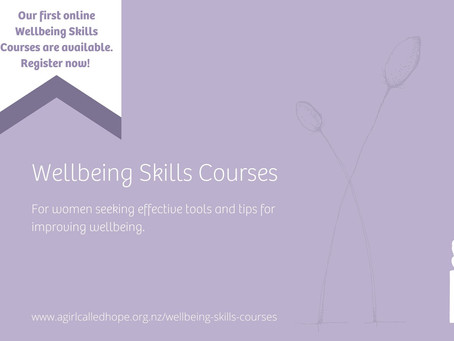 Wellbeing Skills Courses available now!