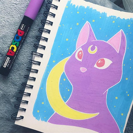 Luna sketch with POSCA