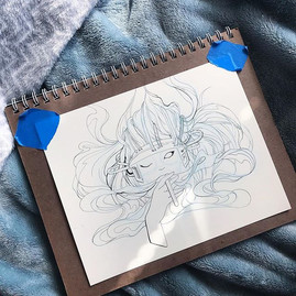 """""""Into The Verse"""" ink sketch"""