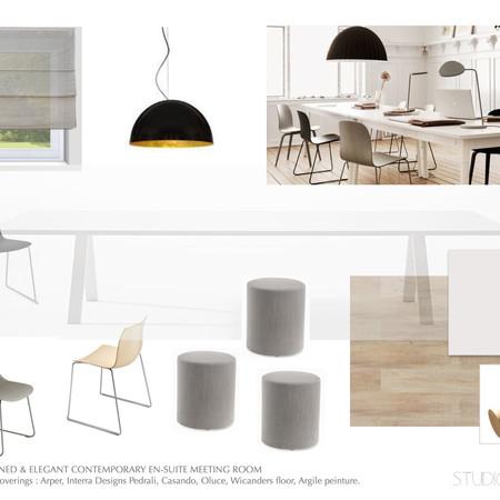 OCHRES & WHITE STONE En-suite meeting room
