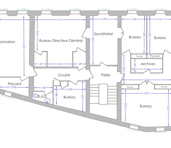 OCHRES & WHITE STONE Offices plan