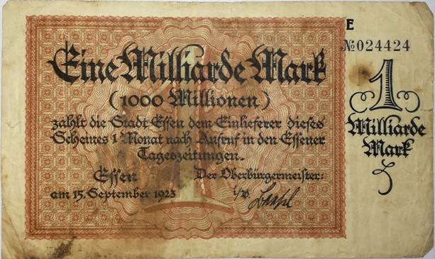 Jedna miliarda Marek, 1923