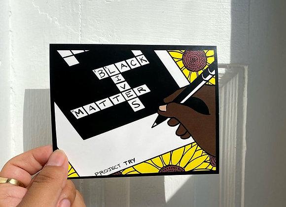 Black Lives Matter Crossword Sticker
