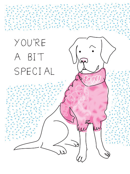 Bit Special Greeting Card