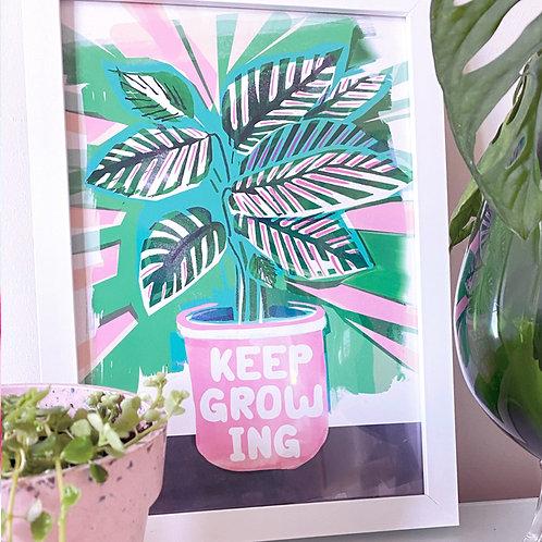 KEEP GROWING PRINT