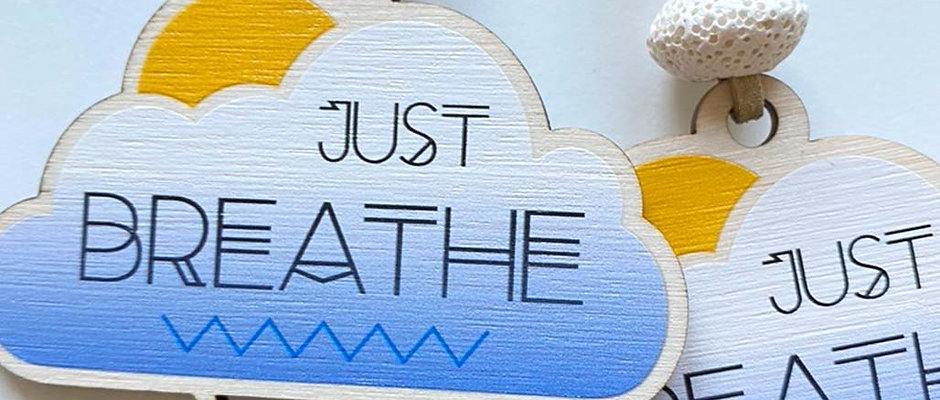 Just Breathe Diffuser Charm or Keyring
