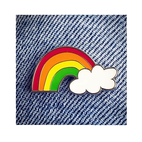 No Place Like Home Rainbow Pin Badge
